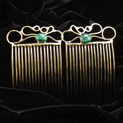 Jezzard Jewelry, hand made Hair Combs in Bronze or Nickel Silver.