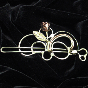 Jezzard Jewelry, hand made Hairsweeps in Bronze or Nickel Silver.