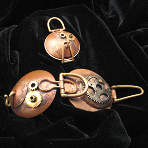 Hand Made Sculptural Steampunk Original Piece by Bill & Debbie Jezzard.  Jezzard Jewelry